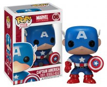 Marvel Comics POP! Vinyl Bobble-Head Captain America 10 cm