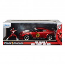Power Rangers Hollywood Rides kovový model 1/24 2009 Nissan GT-