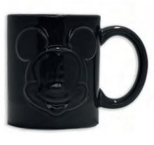 Mickey Mouse Relief Hrnek Black