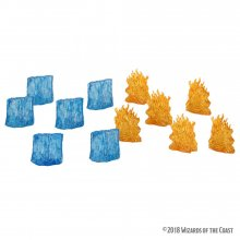 D&D Icons of the Realms Miniatures Spell Effects: Wall of Fire &