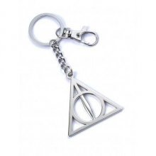 Harry Potter Přívěsek na klíče Deathly Hallows (silver plated)