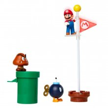 World of Nintendo Super Mario Diorama Set Acorn Plains
