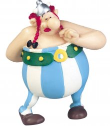 Asterix Figure Obelix with Flowers 7 cm