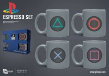 PlayStation hrnky na espresso 4-Pack Buttons
