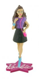 Barbie mini figurka Barbie Fashion Pink Bag 10 cm