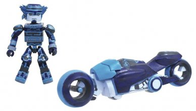 Kingdom Hearts Minimates Vehicle Tron Light Cycle DLX 15 cm