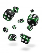 Oakie Doakie Kostky D6 Dice 12 mm Glow in the Dark - Biohazard (
