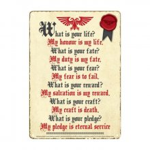 Warhammer Tin Sign Pledge 21 x 15 cm