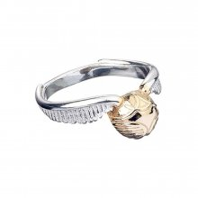 Harry Potter Ring Golden Snitch UK-size M (Sterling Silver)