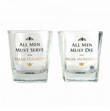 Game of Thrones Drinking Glass 2-Pack Valar Dohaeris / Valar Mor