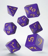 Classic RPG Dice Set purple & yellow (7)
