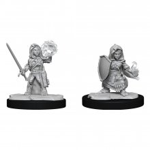 Pathfinder Battles Deep Cuts Unpainted Miniatures Halfling Cleri