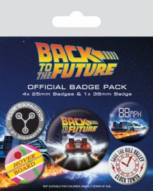 Back to the Future sada odznaků 5-Pack DeLorean