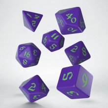 Classic RPG Runic Dice Set purple & green (7)