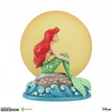 Disney Socha Ariel Sitting on Rock by Moon (The Little Mermaid)