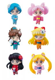 Sailor Moon Petit Chara Trading Figure 6-Pack Let's go to festiv