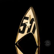 Star Trek Replica 1/1 50th Anniversary Magnetic Starfleet Badge