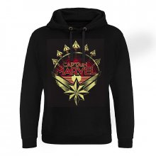 Captain Marvel hoodie mikina Distressed Shield
