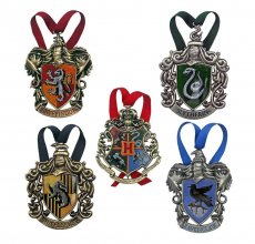 Harry Potter ozdoba na stromek Bradavice 5-Pack
