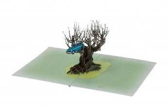 Harry Potter 3D Pop-Up Greeting Card Whomping Willow