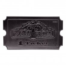 Fallout Replica Nuka World Ticket (silver plated)