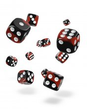 Oakie Doakie Kostky D6 Dice 12 mm Glow in the Dark - Lava (36)