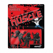 Iron Maiden MUSCLE Figures 3-Pack (Black) 4 cm