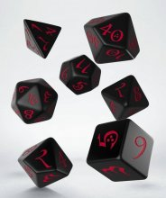 Classic RPG Dice Set black & red (7)