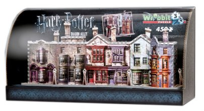 Harry Potter Built-Up Demo 3D Puzzle in Display Case Diagon Alle