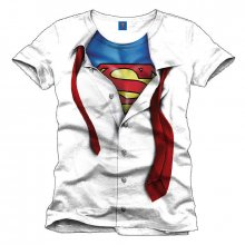 Superman T-Shirt Clark Kent white L