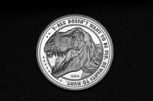 Jurassic Park Collectable Coin 25th Anniversary T-Rex (silver pl