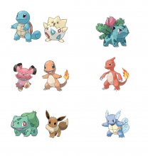 Pokémon Battle mini figurky Packs 5-8 cm Wave 6 prodej v sadě (6
