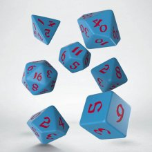Classic RPG Runic Dice Set red & blue (7)
