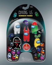 Among Us mini figurky 5-Pack Crewmates Display (6)