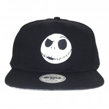 Nightmare before Christmas Curved Bill Cap Jack Face Rubber Badg