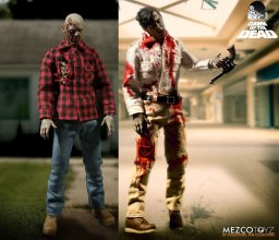 Dawn Of The Dead Action Figure 1/12 2-Pack Flyboy & Plaid Shirt