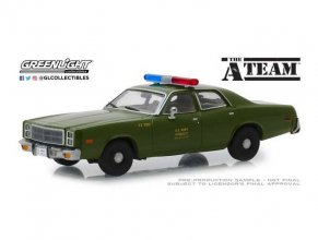 A-Team kovový model 1/43 1977 Plymouth Fury U.S. Army Police