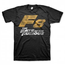 Tričko The Fate of The Furious F8 Distressed Logo černé