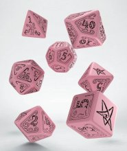 Call of Cthulhu Dice Set pink & black (7)