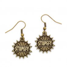 Fantastic Beasts Stupefy Earrings (antique brass plated)