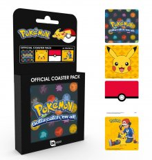 Pokemon podtácky 4-pack Mix