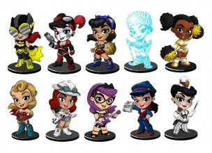 DC Comics Lil Bombshells Blind Tins Vinyl Figures Series 2.5 Ass