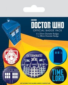 Doctor Who Pin Badges 5-Pack Exterminate