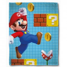 Nintendo fleece deka Mario Maker 100 x 150 cm
