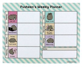 Pusheen Desk Pad Pusheen Weekly Planner 18 x 23 cm