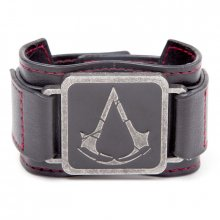 Assassins Creed Rogue kožený náramek Metal Crest