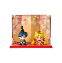 Sailor Moon Petit Chara mini figurka 2 Set Hinamatsuri Usagi & M