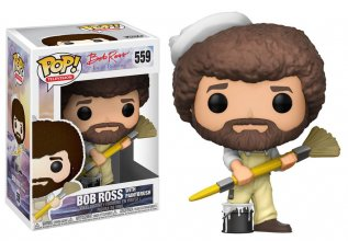 The Joy of Painting POP! Television Vinyl Figure Bob Ross with P