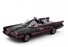 Batman 1966 Batmobile with Batman and Robin gumová ohebná figurk