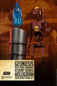 Star Wars figurka Geonosis Battle Droid Commander & Hologram